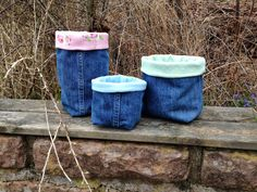 Anette L syr och skapar: Påsar av gamla jeans Recycle Jeans, Diy Jeans, Quilts, Sewing, Crafts, Inspiration, Recycling, Hand Crafts, Biblical Inspiration