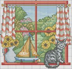 Четыре окна / Вышивка / Вышивка крестом