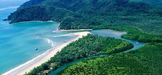 Where the Daintree River meets the Coral Sea, and where the rainforest meets the reef. QLD, Australia