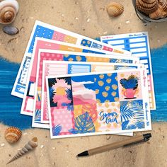 A summer planner sticker kit,based on our original artwork, inspired by tropical islands and amazing sunsets. Its sized perfectly for the Erin Condren Vertical Life Planner and Classic Happy Planner but you can use in other planner formats as well. Includes 6 sheets with: Deco full boxes Checklist Summer Planner, Weekly Planner, Life Planner, Happy Planner, Erin Condren, Amazing Sunsets, Gel Pens, Planner Stickers, Original Artwork