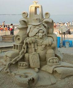 sand sculpture sculpture