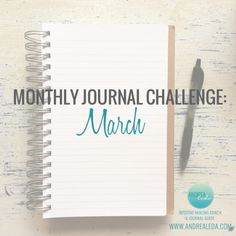 Monthly Journal Challenge March