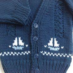 Bebé de punto chaqueta de punto con motivos de por LurayKnitwear