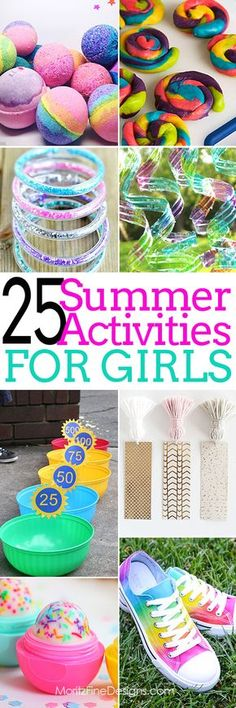 Summer Activities for girls   free printables   cr…