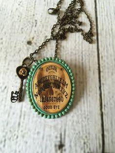Distressed Patina Ouija Skeleton-Key Necklace by RingAroundRosey