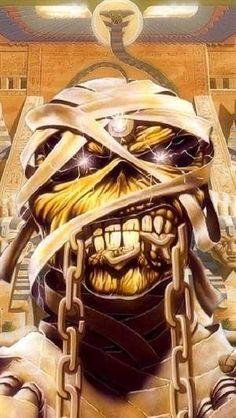 Iron Maiden Album Covers, Iron Maiden Cover, Iron Maiden Albums, Iron Maiden Band, Hard Rock, Arte Heavy Metal, Woodstock, Iron Maiden Posters, Eddie The Head