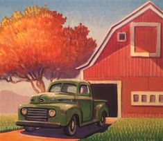 The Robert LaDuke Gallery Robert LaDuke Gallery of Original Fine Art Nostalgic Art, Farm Art, Truck Art, Art Deco Posters, Automotive Art, Fine Art Gallery, Travel Posters, Cool Art, Illustration Art