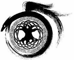 *кельтское древо жизни и мировой змей. Змей, обвивающий Древо Жизни - символ мудрости и вообще, в целом, благоприятный символ