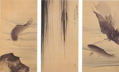 円山応挙「鯉魚図」 毛利博物館所蔵