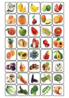 bingo over fruit Fruit And Veg, Fruits And Vegetables, Preschool Worksheets, Preschool Activities, Kids Education, Special Education, Bingo, Nutrition Activities, Kids And Parenting