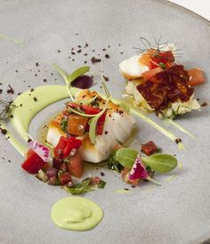 Nadire Atas on Foodie Journey This exquisite cod recipe from Agnar Sverrisson of London's Texture is a delicious nod to the chef's Icelandic heritage. Cod Recipes, Fish Recipes, Seafood Recipes, Cooking Recipes, Great British Chefs, Avocado Recipes, Fish Dishes, Creative Food, Food Plating