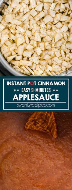 Instant Pot Applesauce. Fresh applesauce recipe with cinnamon made in the instant pot.  Apples pressure cooked for 9 minutes with cinnamon. The perfect blend of warm cinnamon and sweetness. Cinnamon Applesauce I applesauce recipe I instant pot recipes I healthy instant pot #healthyrecipes #instantpotrecipes #IPrecipes
