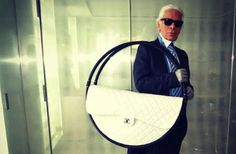 Very strange. Karl Lagerfeld - Chanel hula-hoop beach bag