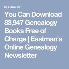 from Eastman's Online Genealogy Newsletter Free Genealogy Sites, Genealogy Forms, Genealogy Search, Genealogy Chart, Family Genealogy, Genealogy Humor, My Family History, All Family, Family Trees