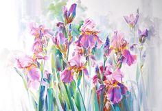 Олег Тимошин - цветы акварелью