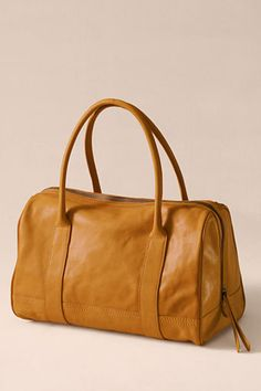 Outfit 3: Women's Speedy Satchel from Lands' End Canvas in dijon. Oh this bag makes me melt right into its buttery soft leather. So classic it could stay in my closet for many many years to come! #CanvasChinos