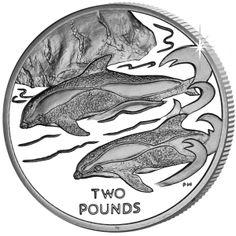 British Antarctic Territory 2015 - Hourglass Dolphin - Uncirculated Cupro Nickel Coin