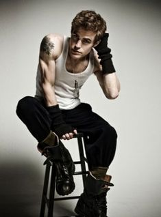 and he has a tattoo... Paul Wesley you make life so unbearably wonderful but painful because you are so beautiful.