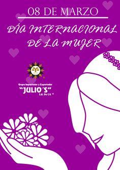 Grupo Julio's  Les desea un hermoso día a todas nuestras amigas ¡¡Feliz #DíaDeLaMujer!! 👧🙋♀️👩👧🙋♀️👩 Un Abrazo 🤗🤗🤗