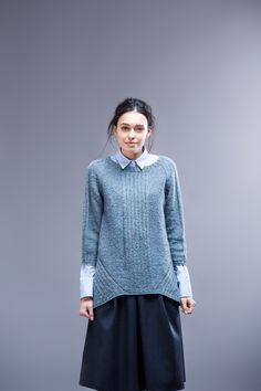 """Imago raglan pullover by Yoko Hatta. Shown in color """"Faded Quilt"""". From Brooklyn…"""