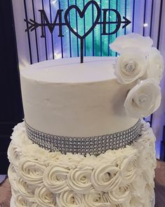Simple, elegant, delicious!  Baked for Arbuckle Wedding Chapel by Tammy D's Catering.