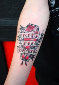 Ride 'Til Death Tattoo by Chris Hold