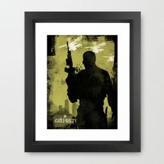 Minimalist Video Game Poster Inspired by Call Of Duty, Call Of Duty poster, Art print, Call Of Duty game, Game wall art, Alternative print,