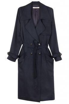 Dress Up Navy Trench Coat