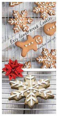 Easy Gingerbread Cookie recipe that is delicious. Molasses gingerbread cookies, a holiday tradition. Check out the recipe & kid cookie decorating tips! Easy Gingerbread Cookie Recipe, Gingerbread Reindeer, Gingerbread Dough, Reindeer Cookies, Gingerbread Man Cookies, Holiday Cookies, Holiday Treats, Christmas Treats, Christmas Recipes