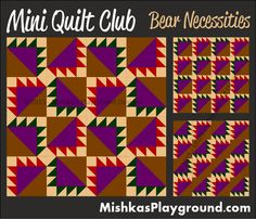 Mini Quilt Mystery Club – Pieced Designs | Mishka's Playground