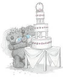Tatty Teddy met taart