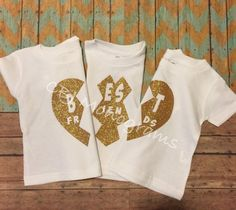 3 BFF personalizado Set de niños mellizos mejor por CBJMonograms