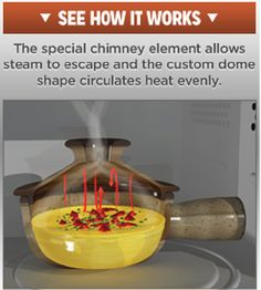 Steam Cooking Fast and Easy in your Microwave ? Yes it's called stone wave cooker http://www.tedreviews.com/stone-wave-cooker/