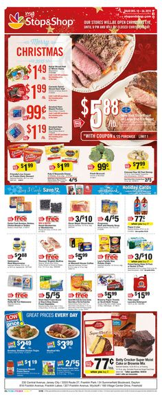 Explore the Stop and Shop circular here! Isn't the Stop and Shop next week circular posting yet? We're posting next week stop and shop weekkly ad a few days before the deal issues. Stop And Shop Circular, Flyer Layout, Weekly Ads, December, Shopping, Food, Design, Leaflet Design, Essen