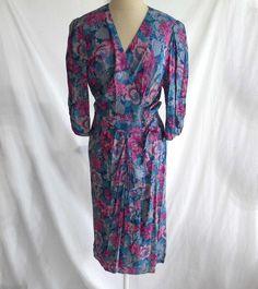 Belle France Wrap Dress Maxi Floral Print Draped Sarong Jane Schafthausen Nos 12 #BelleFrance
