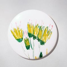 Mirror - Flowers. Łucja - she is a young artist but we can't be indifferent to her creativity :) $11 zł.