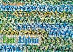 Free Crochet Pattern - Fast Afghan. One of our most popular afghan patterns. #craftown #crochet #afghan