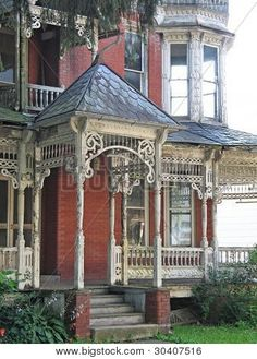 "Dilapidated Victorian house (tinabelle) This photo is the rest of the house (not sure where it is) famous for that ""wraparound porch"" :-)"
