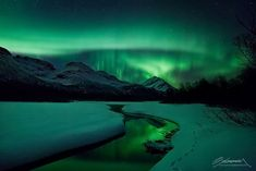 Photographer Ole Salomonsen recently captured some spectacular photos of the aurora borealis shining over northern Norway.