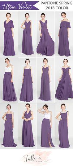 pantone 2018 spring color Ultra Violet bridesmaid dresses  #bridesmaid #bridesmaiddresses