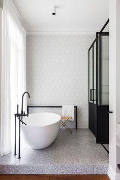 Bathroom Inspiration: Colour & material mix. Not specifically bathroom desig...