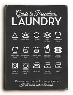 Lettered & Lined | Laundry Procedures Modern - Chalkboard