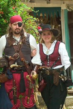 Pirate cosplays by Robert and Julianna Blann of https://www.facebook.com/Killring Cosplay.