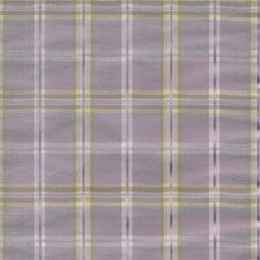 Strafford in Sea Fog -lavender plaid with green, yellow and white pattern for custom window valances, curtains, tiers, bedding, pillows and fabric by the yard