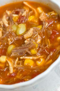 looks more like just a really good beef/chicken stew When I lived in South Georgia, I fell in love with Brunswick stew! Sugar & Spice by Celeste: A Stellar Brunswick Stew. New Recipes, Crockpot Recipes, Soup Recipes, Cooking Recipes, Favorite Recipes, Game Recipes, Chili Soup, Taco Soup, Soup And Sandwich