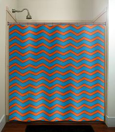 Shower Curtain Custom Made Designer Fabric Ruffles and Flowers ...