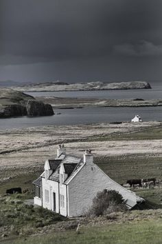 Isle of Skye, Scotland --- A cottage by the shore on an iso. Isle of Skye, Scotland --- A cottage by the shore on an isolated island off the coast of Scotla Places To Travel, Places To See, Beautiful World, Beautiful Places, England And Scotland, Scotland Travel, Highlands Scotland, Barra Scotland, Scotland Trip