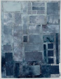 Design Decoration Craft: Contemporary Textile Work of Artist Marlene Cohen -- Inspiration for a denim quilt or wall hanging. Shibori, Textile Fiber Art, Textile Artists, Denim Kunst, Inchies, Motifs Textiles, Japanese Quilts, Japanese Textiles, Denim Art