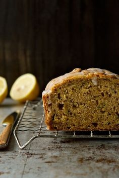 Glazed Lemon Zucchini Bread is made a little more delicious with a pop of citrus flavor.