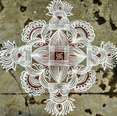 Padi Kolam, Kolam Rangoli, Simple Rangoli, New Rangoli Designs, Beautiful Rangoli Designs, Blouse Designs, Art Sketches, Lotus, Sarees